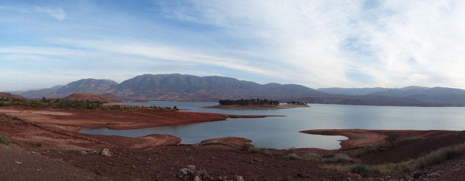 Lac du barrage de Bin el OUidane