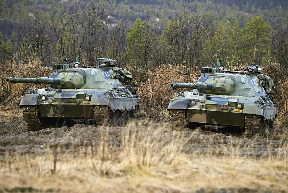 Léopards  en exercice de combat en plein coeur de la forêt Noire