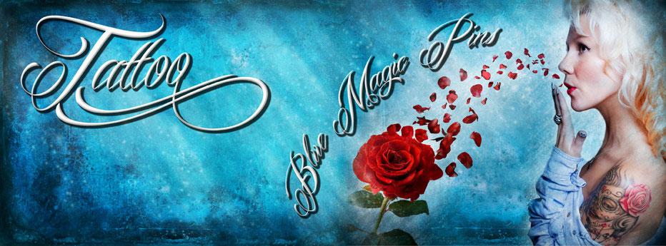 Blue Magic Pins Tattoo