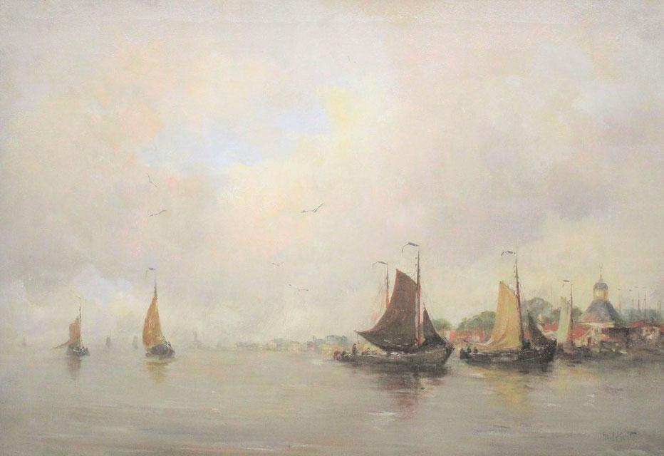 te_koop_aangeboden_een_marine-_en_havengezicht_van_de_haagse_school_kunstschilder_hobbe_smith_1862-1942
