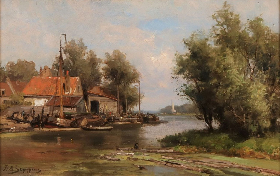 te_koop_aangeboden_een_schilderij_van_de_nederlandse_kunstschilder_pieter_adrianus_schipperus_1840-1929_haagse_school