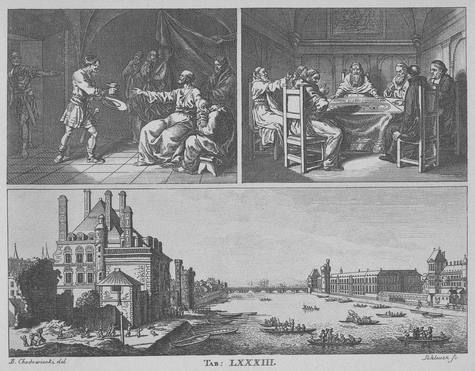 Daniel Nikolaus Chodowiecki. TafelLXXXIII 'Noch etwas vom Kirchenwesen der Christen' (ca.1774) zu Johann Bernhard Basedows Elementarwerk, Dessau 1774