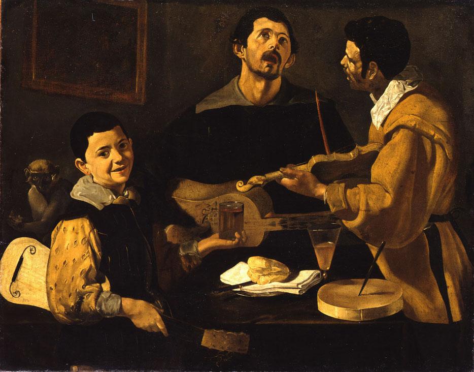 Diego Velázquez, Die drei Musikanten, um 1616-1620, Berlin, Gemäldegalerie, Foto: Volker-H. Schneider