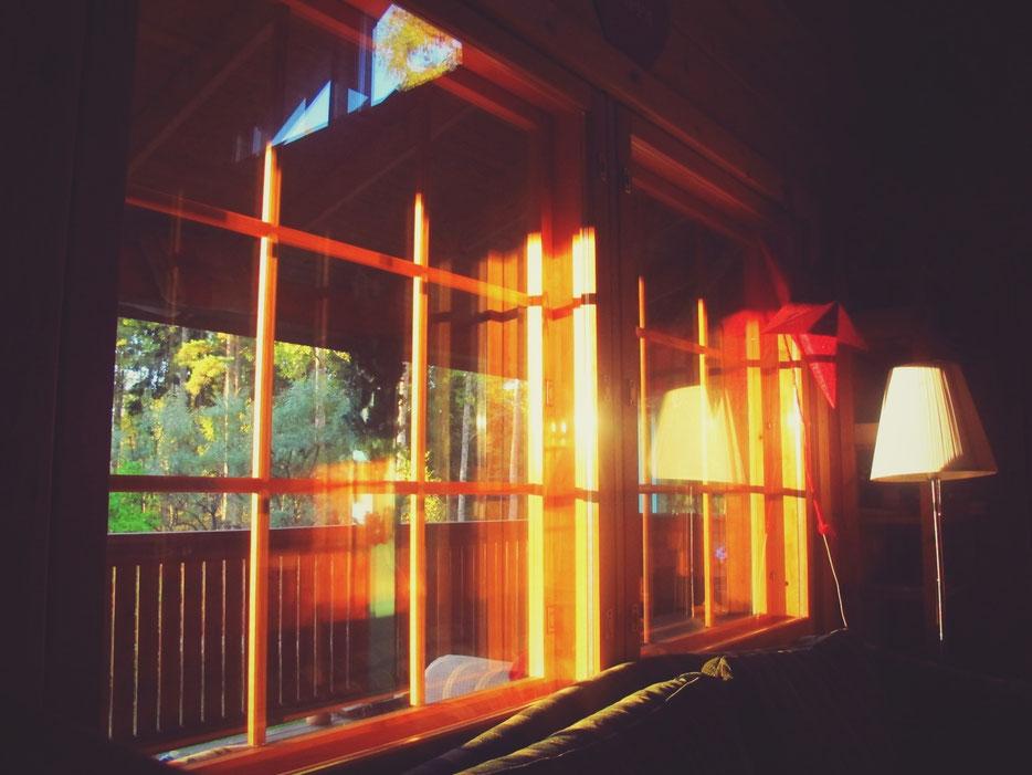 cabane fenetre soleil bois