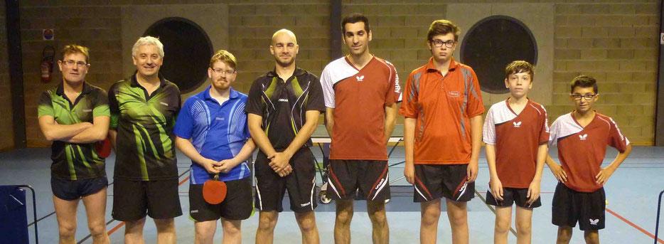 R3A contre La Souterraine : Anthony B., Johan L., Benjamin T. et Antoine G.