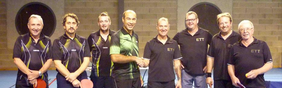D3 contre Eymoutiers avec : René g., Christophe T., Pascal C. et Alain G.