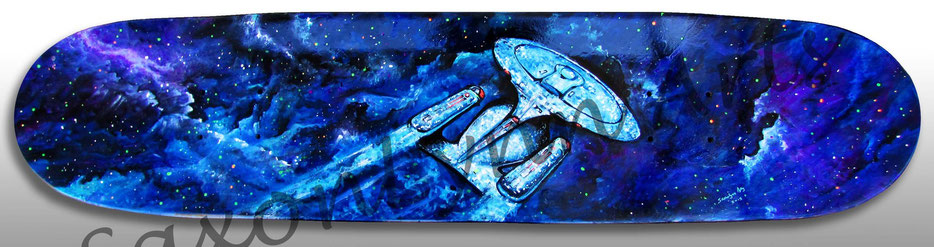 star trek enterprise 1701 D skateboard