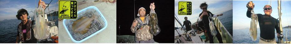10月はデカあおり結構釣れました。タルイカも釣れました。