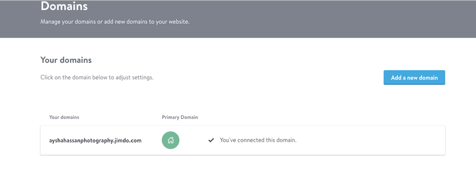 Domain settings