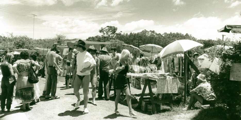 Eumundi Markets 1983 taken by freelance photographer Ian Murray