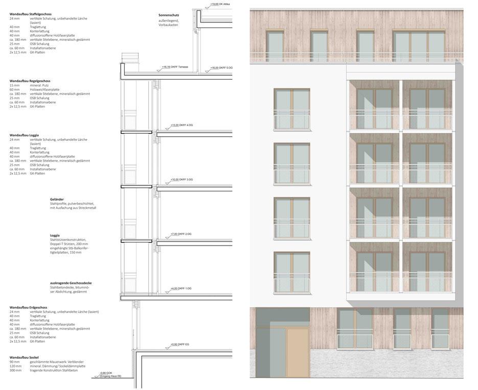 dgk architekten Holzfassade Holzbau Wohnungsbau Leipzig Streckmetall