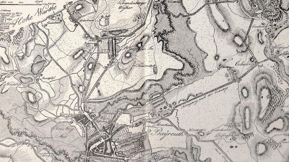 Bayreuth nach dem Plan von J.C.L. von Reiche 1795