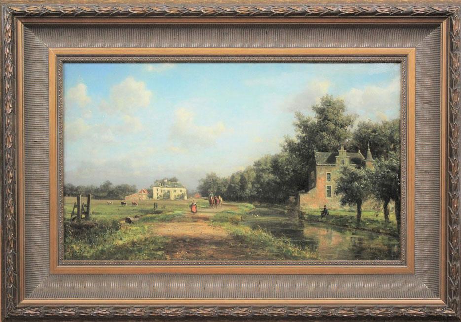 te_koop_aangeboden_een_landschaps_schilderij_van_de_kunstschilder_johannes_joseph_destree_1827-1888_vlaamse_romantiek