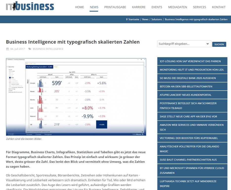 PIT und deren BI-Lösungen in der Presse ... Besuchen Sie das Portal von IT Business.