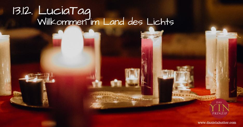 Der Tag der heiligen Luzia als Zeitqualität ist ein Tag des Lichtes, erinnert an das innere Licht.