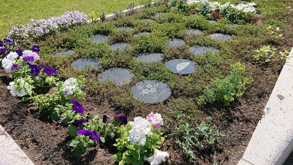 樹木葬の一例 石狩はまなす墓苑 「ラベンダー」