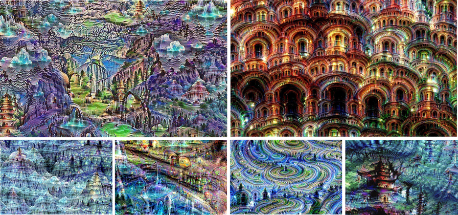 "Buiding dreams - Neural net ""dreams""— generated purely from random noise, using a network trained on places by MIT Computer Science and AI Laborator"