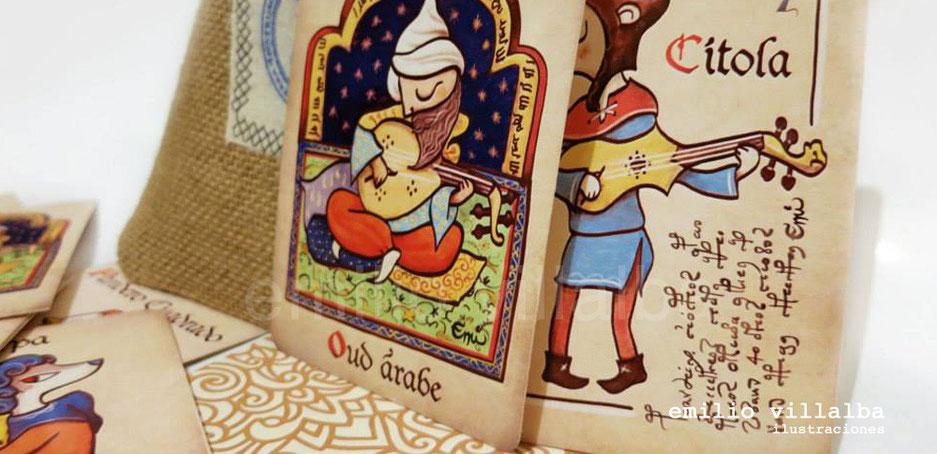 "Juego de cartas ""Memorum: músicos e instrumentos musicales"""