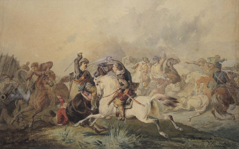 te_koop_aangeboden_een_militair_kunstwerk_van_de_kunstschilder_karel_frederik_bombled_1822-1902_hollandse_romantiek