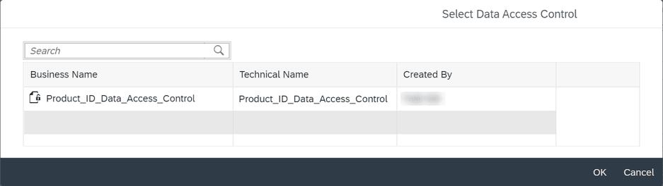 SAP Data Warehouse Cloud Select Data Access Control