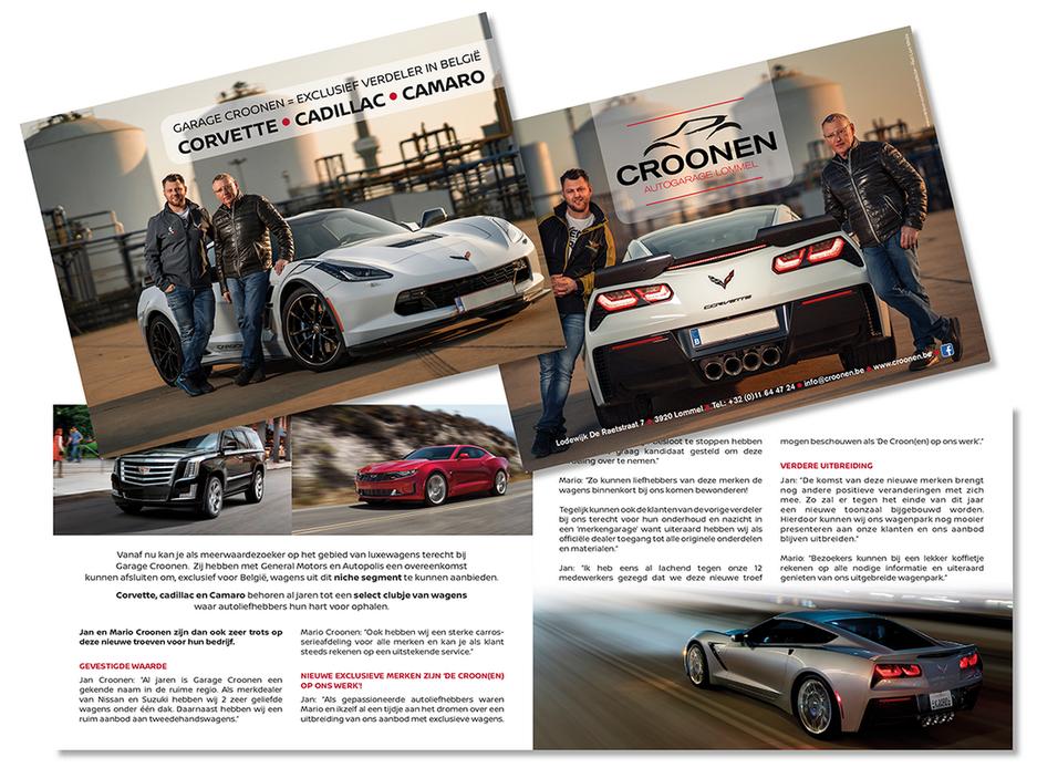 Dirk Van Bun Communicatie & Vormgeving - Lommel - Grafisch ontwerp - Opmaak - reclame -  publiciteit - Folder Garage Croonen