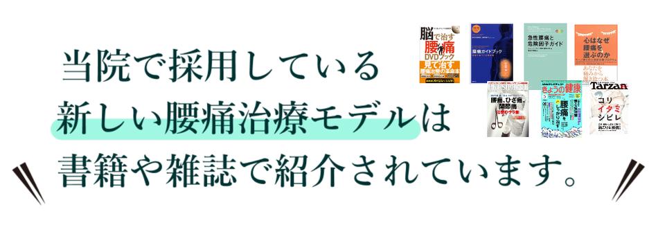 豊田市・夏目接骨院では新しい腰痛改善モデルを採用しています