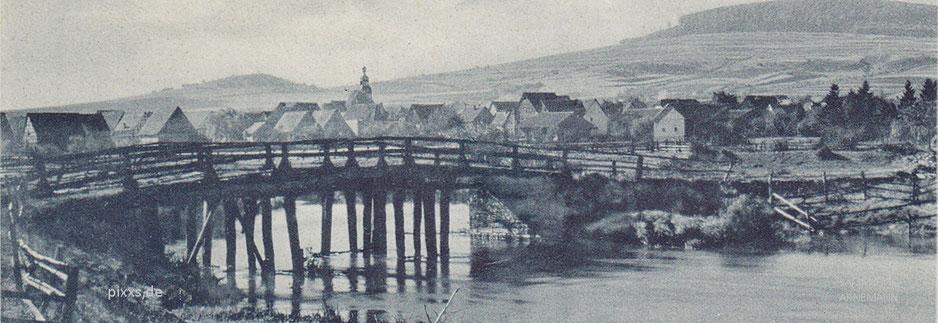 Diemelbrücke bei Deisel - Aufnahme von Heinrich Fritz aus den 1920er Jahren