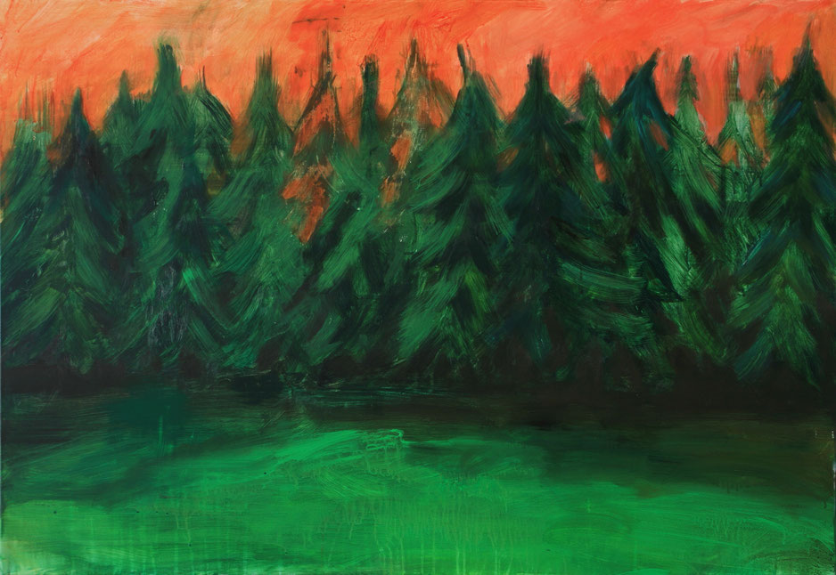 Sapins, 2018, Acryl auf Leinwand, 90x130