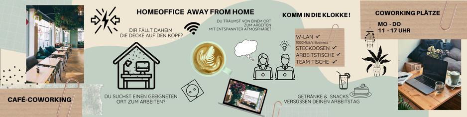 Dir fällt daheim die Decke auf den Zopf? Du träumst von einem entspannten Ort zum Arbeiten? - Die klokke Mannheim bietet freies W-Lan (1000Mbit/s) Steckdosen, Arbeitstische und natürlich vegane Snacks und Getränke. Foto von Arbeitsplätzen mit Laptop.