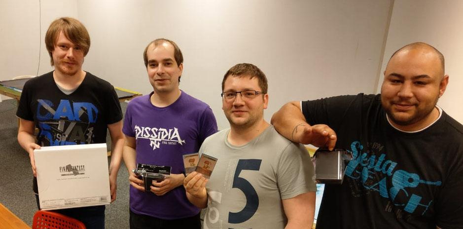 Die Top4, von links nach rechts: Christian S., Mathias R., Raphael K. und Nadir U.