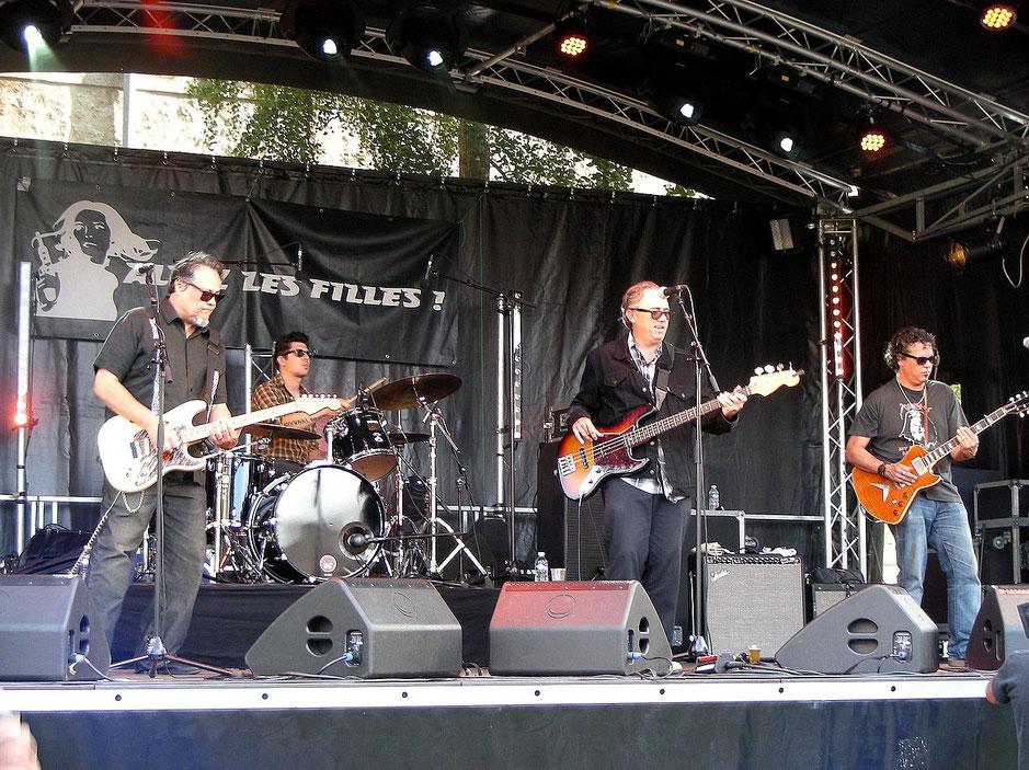De g à d : Hector Watt, Hugo Devoers, Bret Coats et Dave Herrero. Photo Gilbert Béreau. 2015.