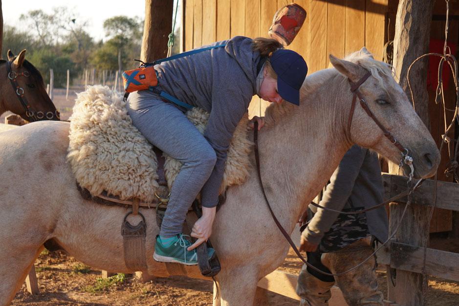 Uta auf dem Pferd