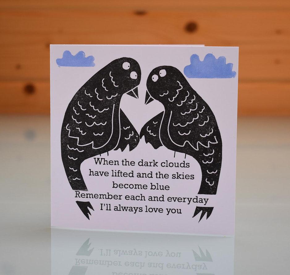 uplifting bird love card