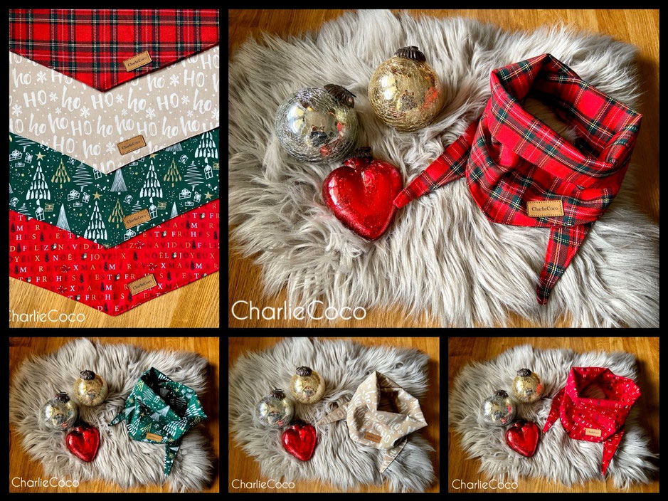 Halstücher für Weihnachten mit unterschiedlichen Motiven