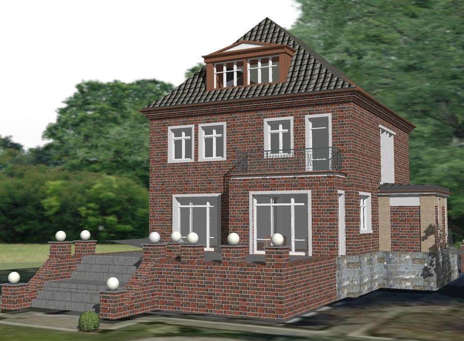 bild3: visualisierung gartenseite1-zaps-bockhaus-odenthal architekten münster, architektur immobilien design interior
