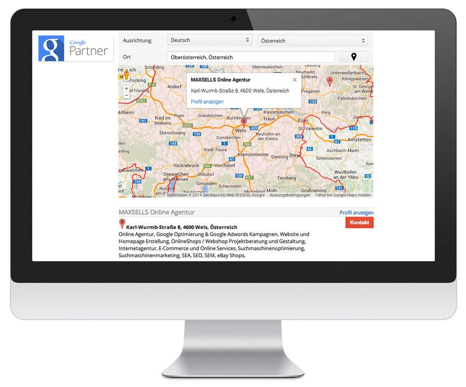 Google Adwords Agentur und Google Partner Suche Oberösterreich MAXSELLS Online Agentur