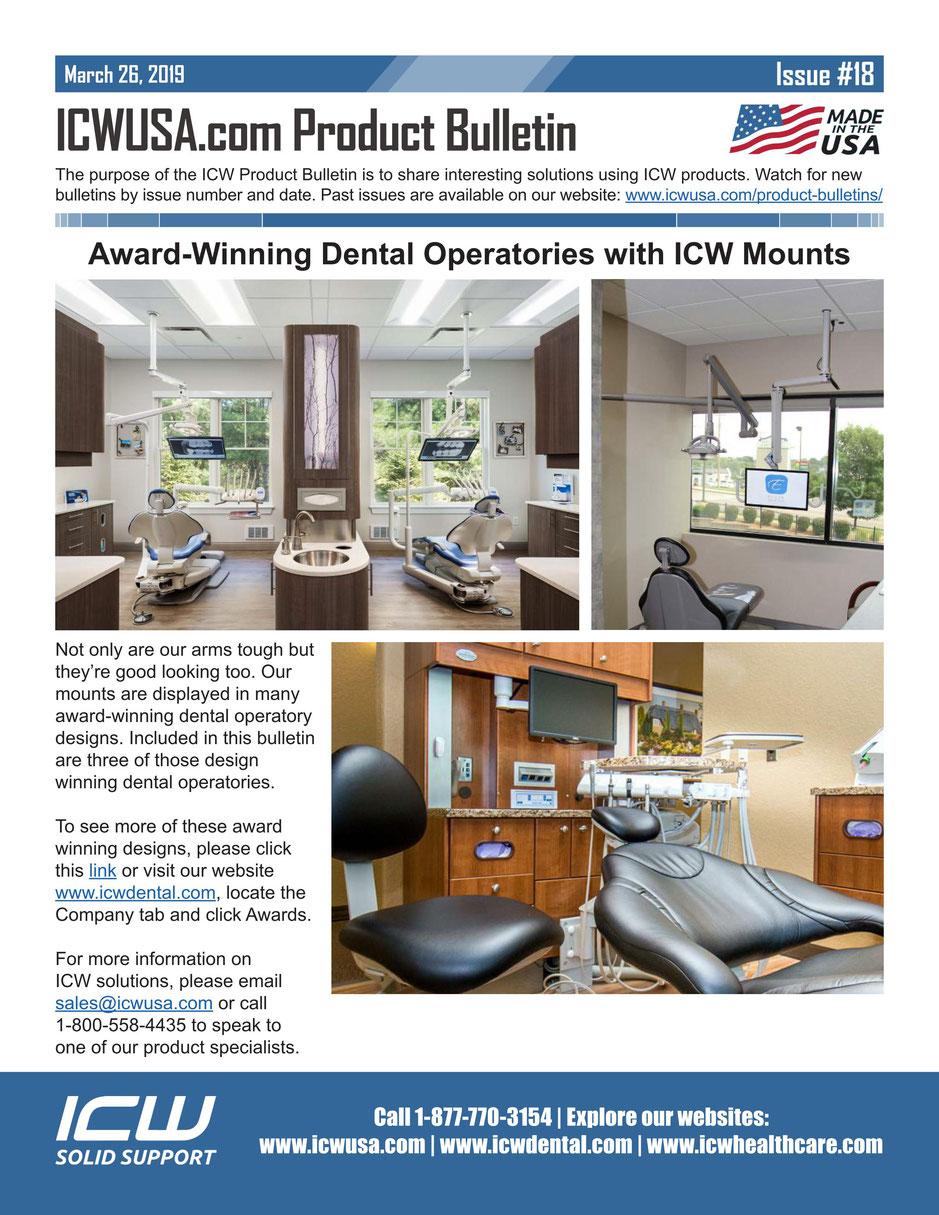 ICWUSA マウントソリューション 歯科向け デンタルクリニック向け モニターアーム シーリングマウント キャビネットマウント
