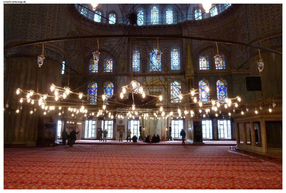 Beisammen sein in der Blauen Moschee