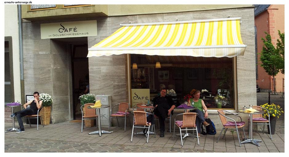 In diesem Café war ich.