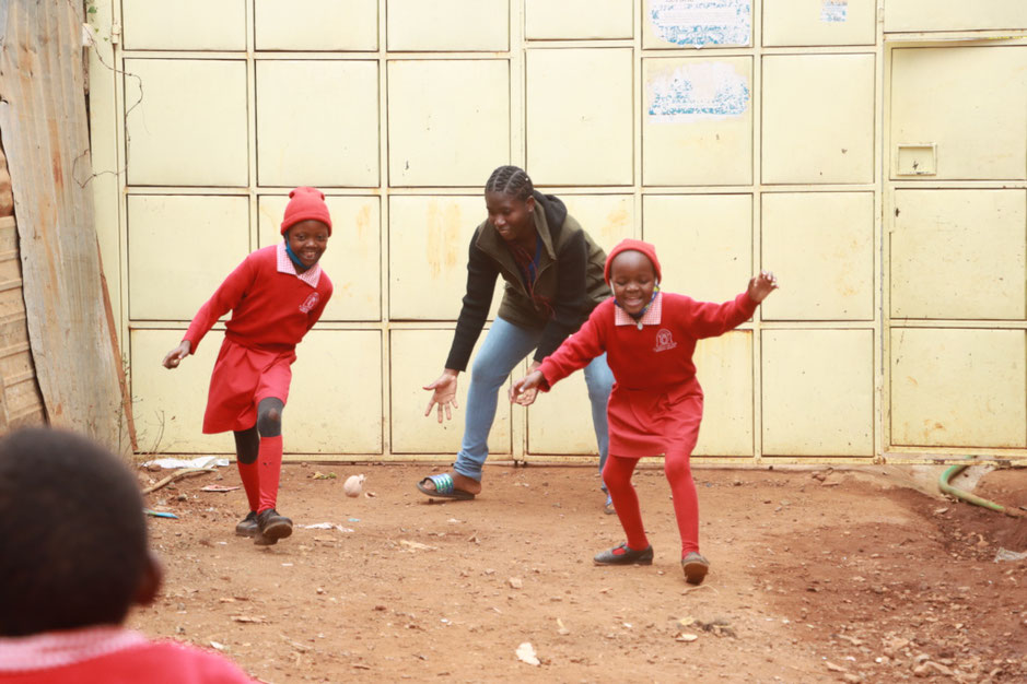 Grace volunteering at our Nursery School