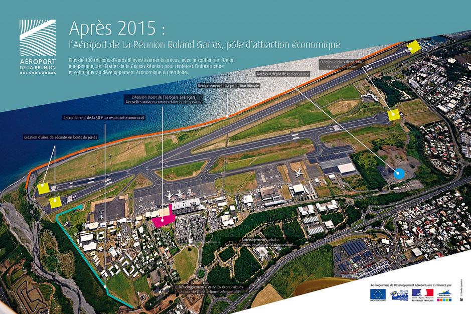 Depuis 2011, la concession de l'aéroport a été transférée à la société aéroportuaire Aéroport de La Réunion Roland Garros (constituée par l'Etat, la CCIR et les collectivités locales) qui le gère.