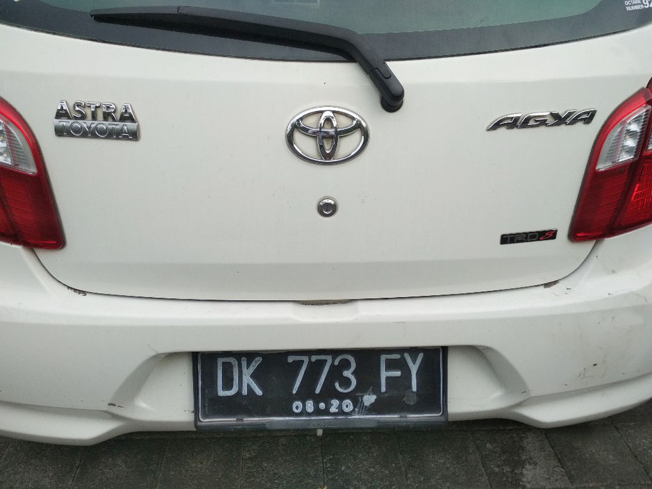 Noleggio auto Bali