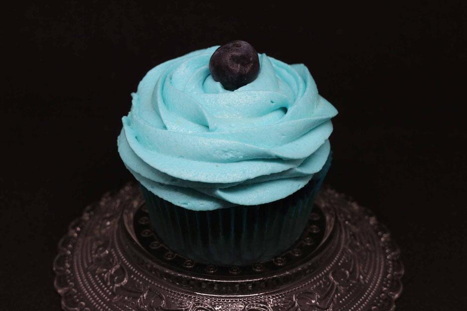 Blaubeer Cupcake