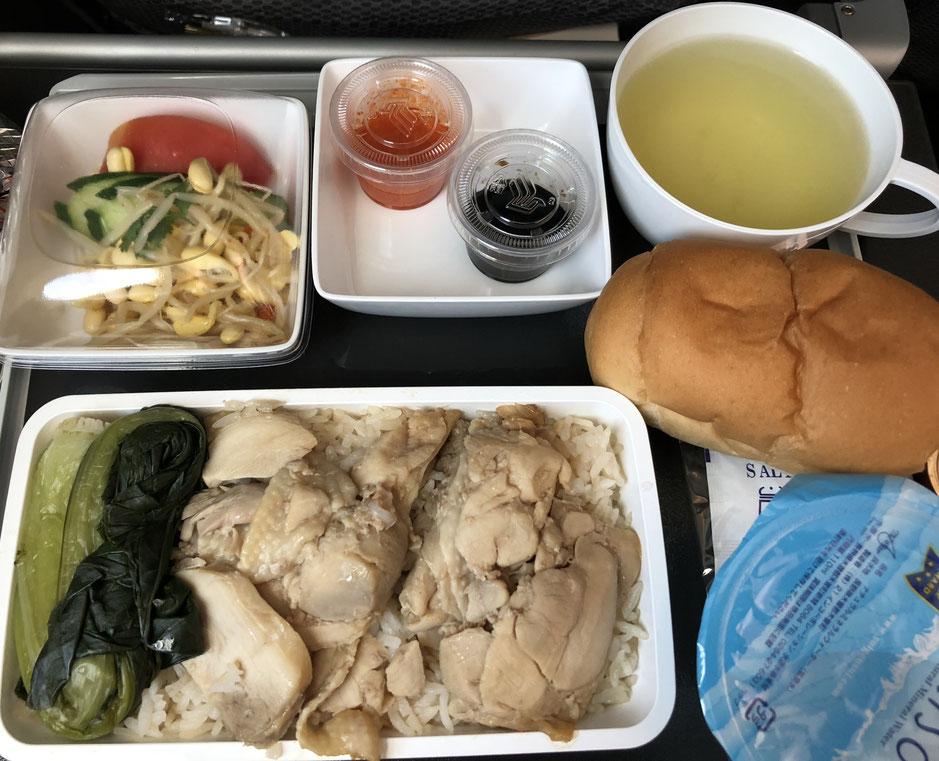 シンガポールエアライン シンガポール航空 臨時便 中部国際空港 台風21号 機内食