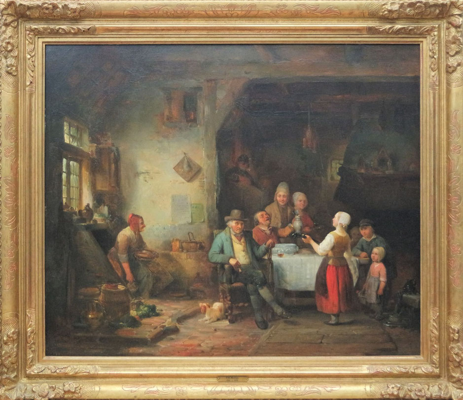 te_koop_aangeboden_een_genre_schilderij_van_de_nederlandse_kunstschilder_petrus_marius_molijn_1819-1849