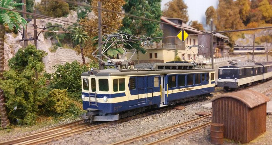 Bemo, Rrangiertraktor, Lago Maggiore Express, Centovallibahn, Modell, h0m, modellayout, build modelrailway, Gde 4/4 modellbahn