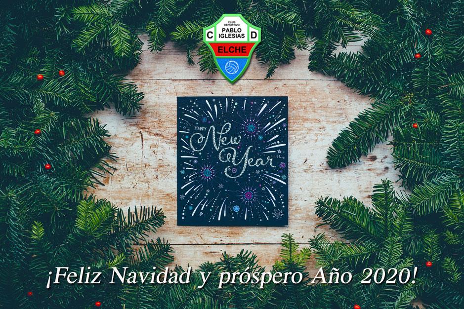 ¡El Club Deportivo Pablo Iglesias Elche os desea una Feliz Navidad y un próspero Año Nuevo!