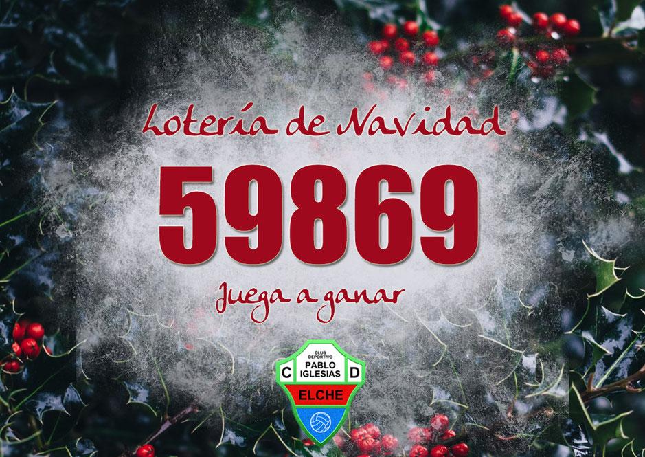 ¡No te quedes sin tu décimo de lotería de Navidad del Club Deportivo Pablo Iglesias!