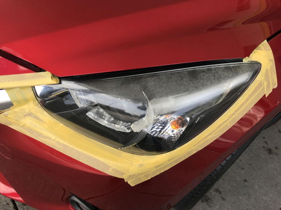 レンズのくもり黄ばみを除去できます。