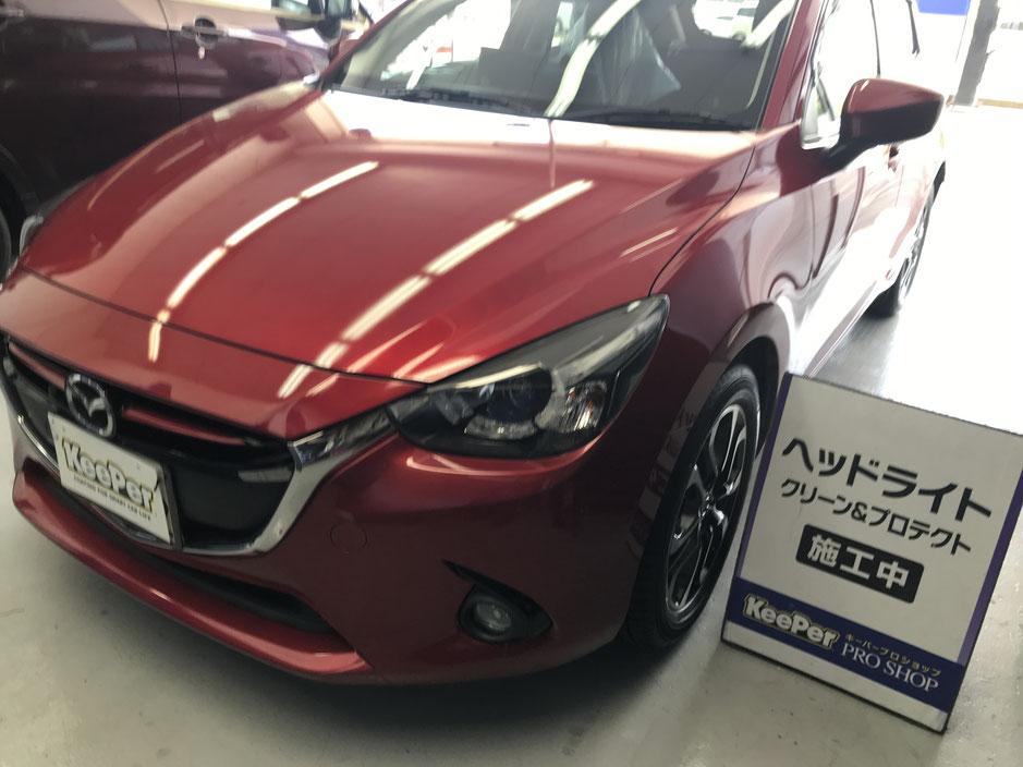 FIAT500 ライトレンズクリーン&プロテクト